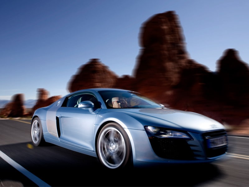 Provkörning av Audi R8