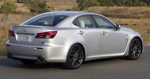 Nuvarande generation Lexus IS har inte blivit F-behandlad, endast förra generationen som vi ser på bild här.