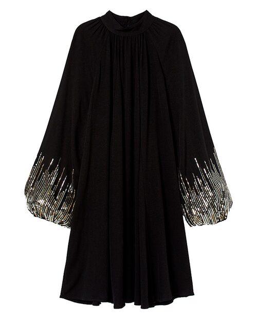 Glittrig klänning till nyår.