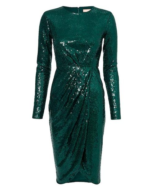 Grön paljettklänning till nyår.