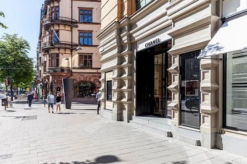 Chanel-butiken på Birger Jarlsgatan i Stockholm