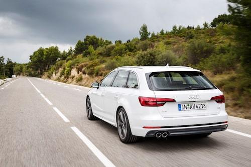 Nya Audi A4 Avant har inte världens största bagageutrymme men 1 510 liter räcker långt.