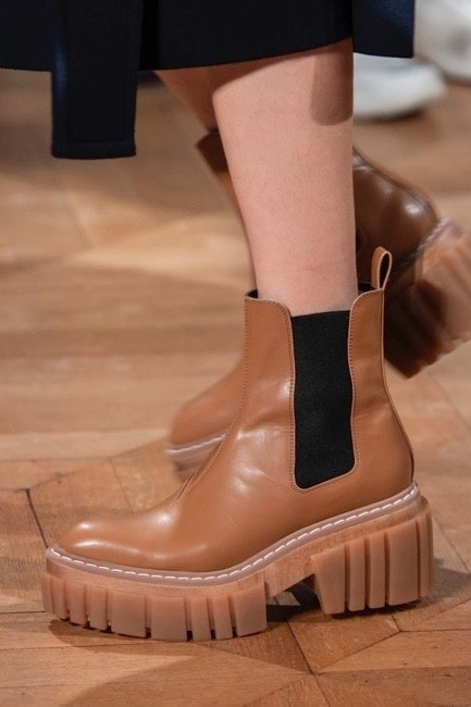 Chelseaboots med grov sula. Stella McCartney AW20.