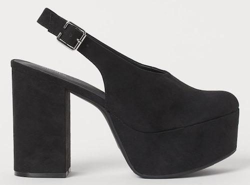 Platåklackar från H&M till budgetpris. Klicka på bilden och kom direkt till skorna.