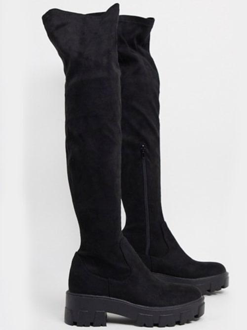 Lårhöga boots från Asos med bekväm, stadig sula. Klicka på bilden och kom direkt till skorna.