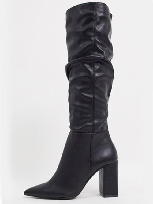 Nerhasade boots från Bershka med klack. Budgetkap! Klicka på bilden och kom direkt till skorna.
