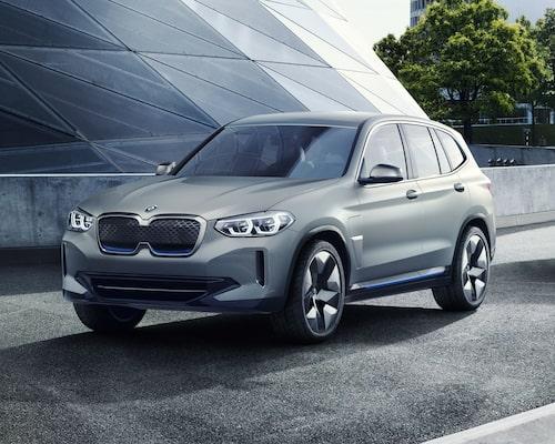Eldrivna BMWiX3 kan redan förbeställas. Här är konceptbilen.