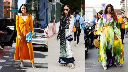 Färgglada och mönstrade maxiklänningar har sin högsäsong på sommaren. Riktigt snyggt!