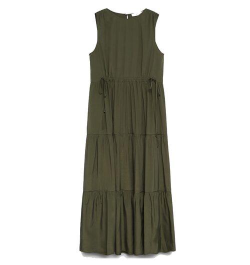 Grön maxiklänning för dam.