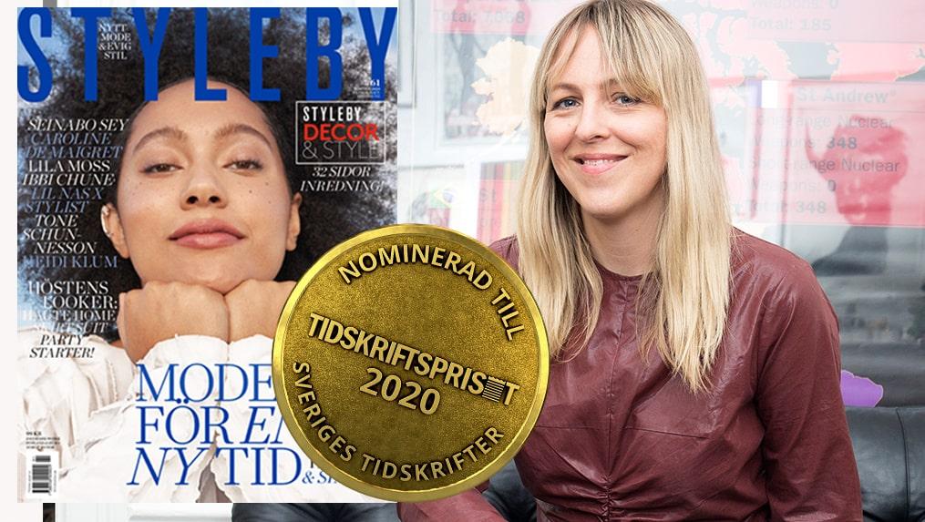Jonna Bergh om STYLEBYs nominering till Tidskriftspriset som Årets tidskrift 2020.