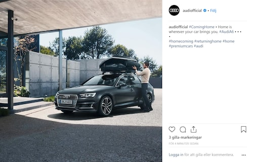 Audi A4 på bilden, Audi A6 enligt texten.