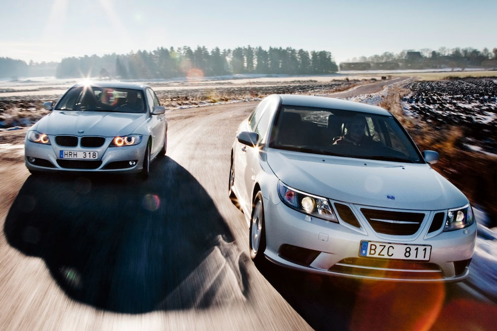 BMW 320d EfficientDynamics mot Saab 9-3 1,9 TTiD.