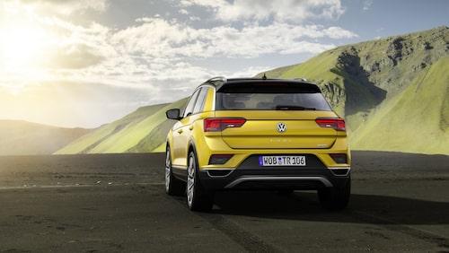 Bakpartiet på crossovern Volkswagen T-Roc.