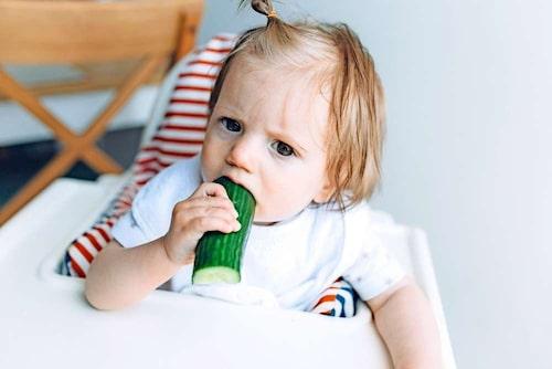 Bara gurka som duger idag? Det viktiga är vad barnet äter under längre perioder.