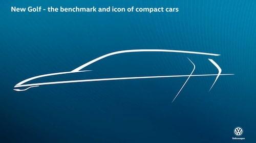 """Volkswagens """"teaser"""" som visades internt i förra veckan. Och visst ser vi likheter med bilen i filmerna, inte minst strålkastarna."""