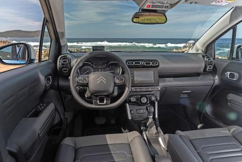 Pekskärmen behövs för att styra de flesta av funktionerna i nya C3 Aircross.Citroën C3 Aircross Feel 110