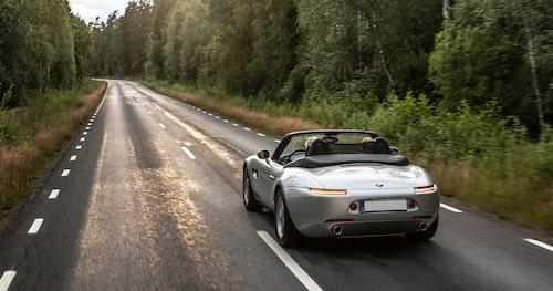 Z8 i sitt rätta element – långsträckta landsvägar!