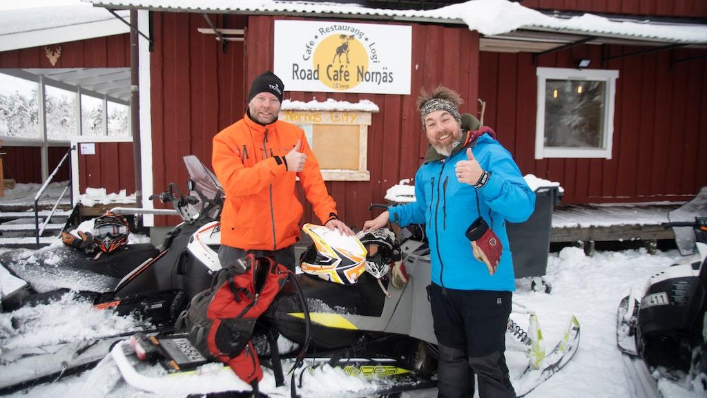 Äntligen framme vid Road Café Nornäs –vårt Mount Everest…