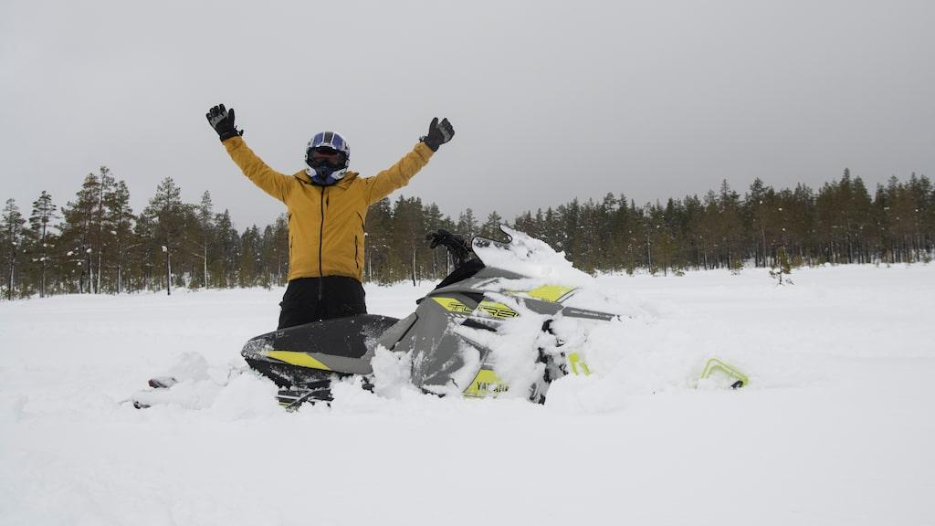 180 hästkrafter, 304 kg Sidewinder och nästan 100 kg timråbo i form av Joakim Eriksson.