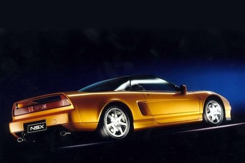 Honda NSX (1990-2005). Hondas förmodligen mest ikoniska bil. V6:a på tre liter och 277 hästkrafter. Låter inte så värst mycket i dag men toppade ändå 270 km/h och klarade 0-100 km/h på 5,9 sekunder.
