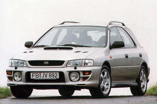 Subaru Impreza GT (1994-1995). En riktig tuffing när den kom, med pulver under huven.