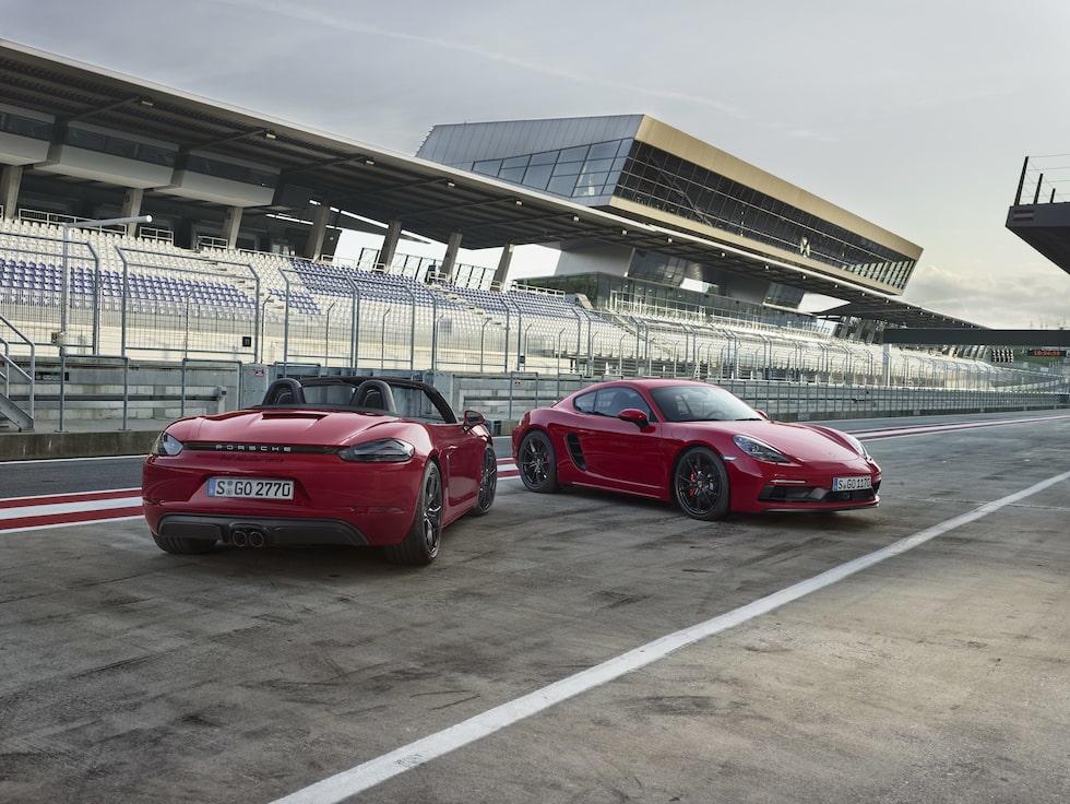 Porsche 718 Boxster GTS och 718 Cayman GTS
