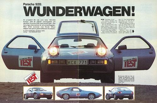 I ett tillfälligt hybrisrus direktimporterade Teknikens Världs redaktion en Porsche 928 från Tyskland. En bedagad lyxsportbil till reapris framstod som rena drömmen när det skulle letas sommarskott 1999. Förhoppningarna om en skön sommar grusades när bilen – döpt till Helmut Kohl – levde sitt eget liv. Ibland kunde motorn bara sluta gå om man stängde av fläkten. Tidningens första möte med 928 gick av stapeln 1978 och omdömet blev positivt, som kan ses ovan.