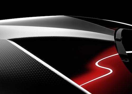 Första detaljbilden från Lamborghini på vad som ska visas i Paris.