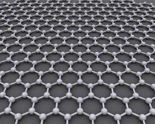 Grafen, kolatomer ordnade enligt detta hexagonala mönster.