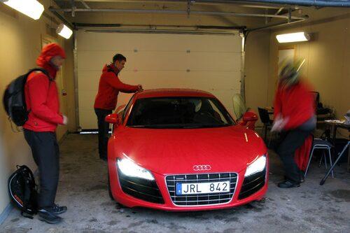 En favoritbil under uppstart, Audi R8 V10.