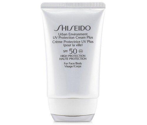 Recension av Urban environment UV protection cream spf 50, 50 ml, Shiseido.