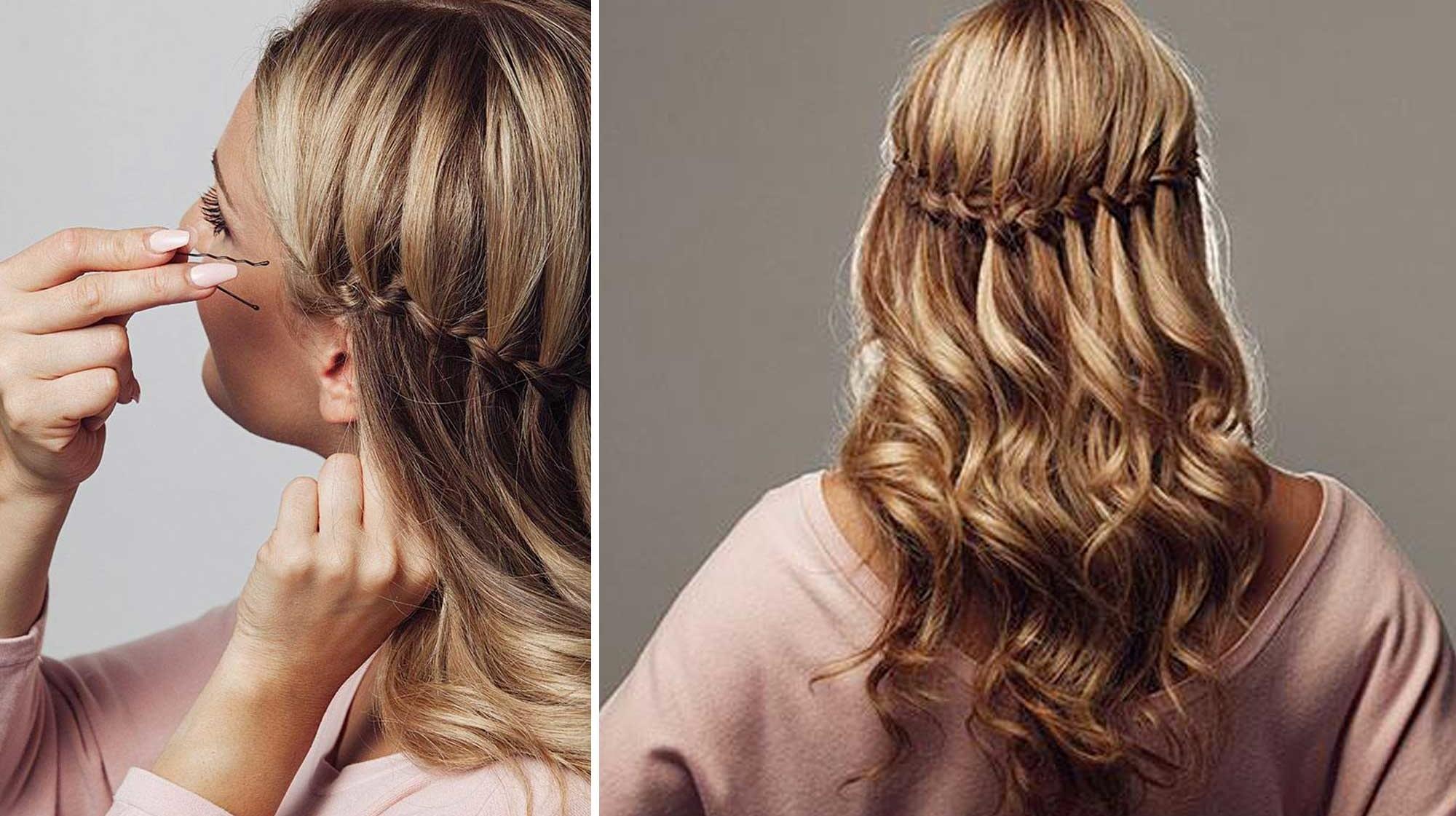 enkla håruppsättningar steg för steg