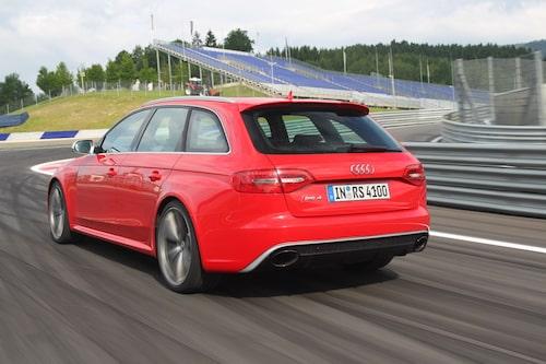 Audi RS4 Avant på Red Bull Ring.