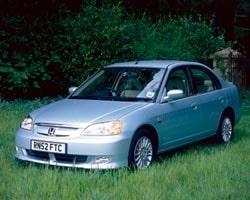 Provkörning av hybridbilen Honda Civic IMA