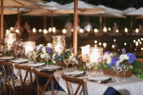 Efter showen serverades sittande middag för gästerna.