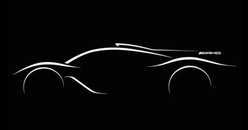 Denna silhuettbild visade Mercedes under Parissalongen.