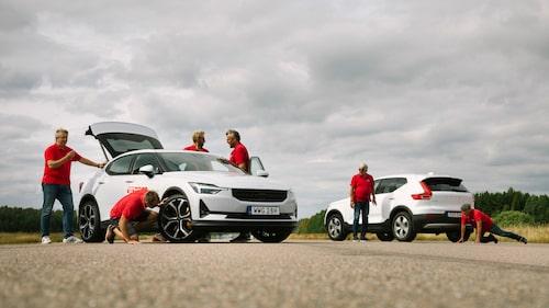 Enligt Polestar själva är Polestar 2 sämre för miljön under sin tillverkning än bensinsyskonet Volvo XC40.