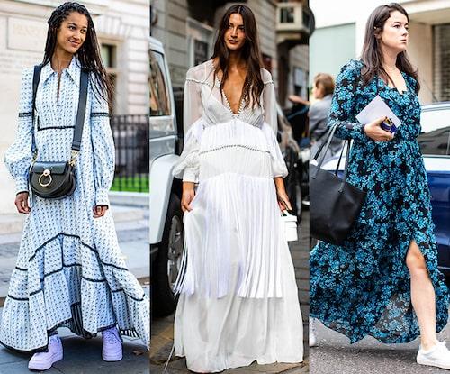 Maxiklänningen är lika snygg till vardags som till fest – bär den med platta sandaler eller sneakers efter midsommarafton.