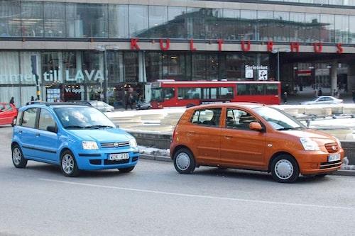Provkörning av Fiat Panda generation 2 och Kia Picanto.