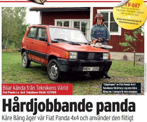 """2010 fann vi """"vår"""" testbil från 1988."""