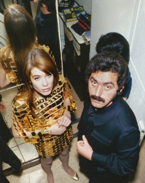 Françoise Hardy (i Paco Rabanne) och Paco Rabanne.
