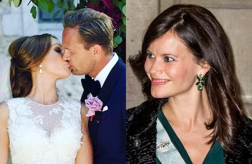 Charlotte Perrelli och prinsessan Sofia i örhängen signerade Caroline Svedbom.