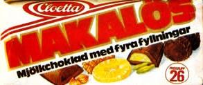 Makalös – choklad med fyllning.