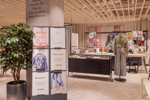 Laga och repapera dina plagg i H&M's nya flaggskeppsbutiken.