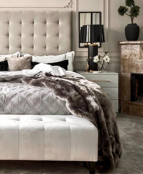 Sovrummet hemma hos Åsa och Emilio Ingrosso - med bäddad säng!