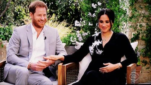 Under intervjun avslöjade prins Harry och Meghan Markle att de väntar en flicka.