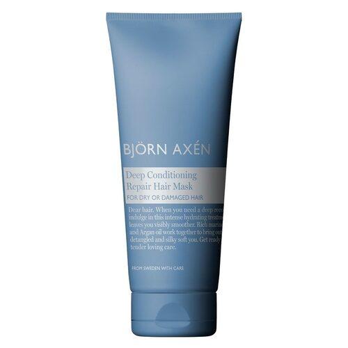 Björn Axéns snabbverkande inpackning Deep conditioning hair repair mask är en av redaktionschef Jenny Bergquists favoriter för att ge torrt och trött hår ny kraft.