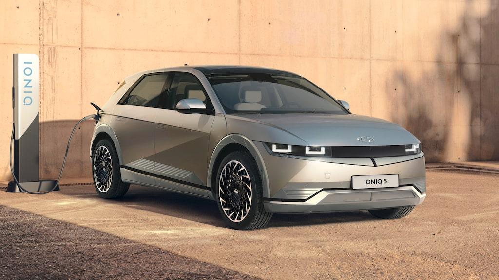Ioniq 5 har behållit mycket av det som konceptbilen Koncept 45 visade hösten 2019.