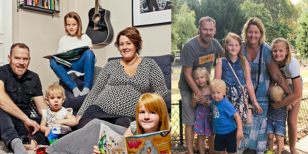 För fyra år sedan: Lisen har just fått veta att hon har tvillingar i magen. Panik och chock. Nu: Rutinerad fembarnsfamilj på äventyr i Europa.