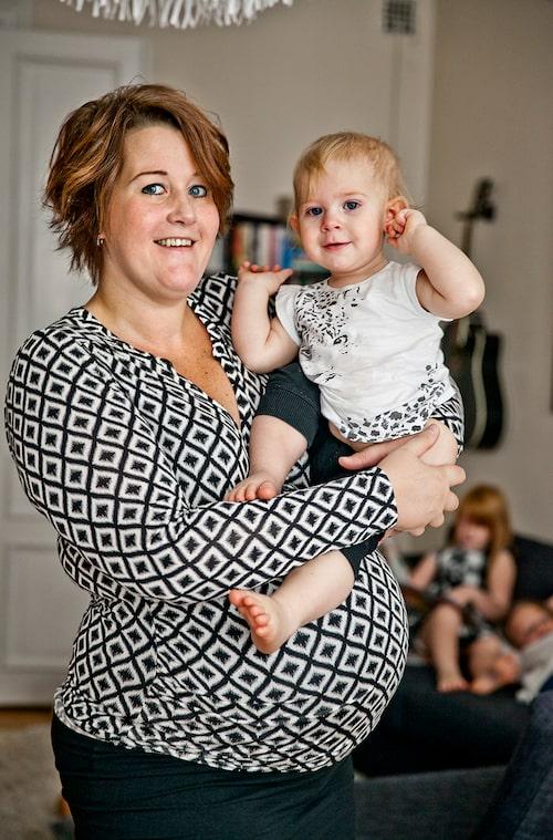 Lisen med yngsta dottern Juno, 2016.
